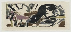 Perle Fine (American, 1908-1988). <em>Wide to the Wind</em>, 1955. Color woodcut, Image: 12 x 28 in. (30.5 x 71.1 cm). Brooklyn Museum, Dick S. Ramsay Fund, 55.57. © artist or artist's estate (Photo: Brooklyn Museum, 55.57_PS2.jpg)