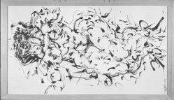 Ezio Martinelli (American, 1913-1981). <em>Woman</em>, 1953. Ink on paper, 39 x 22 in. (99.1 x 55.9 cm). Brooklyn Museum, Dick S. Ramsay Fund, 56.82. © artist or artist's estate (Photo: Brooklyn Museum, 56.82_acetate_bw.jpg)