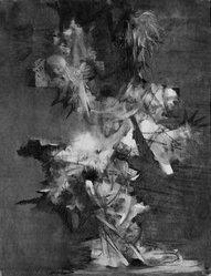 Calvin Albert (American, 1918-2007). <em>Ritual No. 2</em>, 1954. Charcoal on paper, 29 x 23 1/8 in. (73.7 x 58.7 cm). Brooklyn Museum, Dick S. Ramsay Fund, 57.15. © artist or artist's estate (Photo: Brooklyn Museum, 57.15_acetate_bw.jpg)