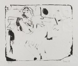 Larry Rivers (American, 1923-2002). <em>The Winged Girl</em>, 1958. Lithograph on paper, image: 10 x 11 3/4 in. (25.4 x 29.8 cm). Brooklyn Museum, Dick S. Ramsay Fund, 58.169.2. © artist or artist's estate (Photo: Brooklyn Museum, 58.169.2_PS4.jpg)