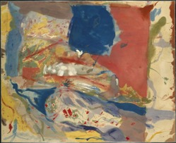 Helen Frankenthaler (American, 1928-2011). <em>Lorelei</em>, 1957. Oil on untreated cotton duck, 70 5/8 x 86 3/4 in. (179.4 x 220.3 cm). Brooklyn Museum, Purchase gift of Allan D. Emil, 58.39. © artist or artist's estate (Photo: Brooklyn Museum, 58.39_SL1.jpg)