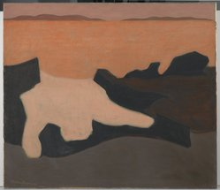Milton Avery (American, 1885-1965). <em>Sunset</em>, 1952. Oil on canvas, 42 1/4 x 48 1/8 in. (107.3 x 122.2 cm). Brooklyn Museum, Gift of Roy R. & Marie S. Neuberger Foundation, Inc., 58.40. © artist or artist's estate (Photo: Brooklyn Museum, 58.40_PS2.jpg)