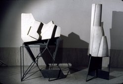 Day Schnabel. <em>The City (four pieces)</em>, 1953. Limestone and steel sculpture Brooklyn Museum, Anonymous gift, 58.41. © artist or artist's estate (Photo: Brooklyn Museum, 58.41_slide_SL3.jpg)