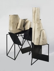 Day Schnabel (Austrian, 1905-1991). <em>The City</em>, 1953. Limestone, steel, a: 22 3/16 × 30 1/2 × 12 1/4 in. (56.4 × 77.5 × 31.1 cm). Brooklyn Museum, Anonymous gift, 58.41a-d. © artist or artist's estate (Photo: , 58.41a-d_PS9.jpg)