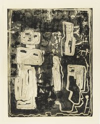 Louise Nevelson (American, born Russia, 1899-1988). <em>The Ancient Garden</em>, 1952-1954. Soft ground etching, sheet (Sheet and image): 27 5/16 × 21 9/16 in. (69.4 × 54.8 cm). Brooklyn Museum, Dick S. Ramsay Fund, 58.44.1. © artist or artist's estate (Photo: Brooklyn Museum, 58.44.1_PS4.jpg)
