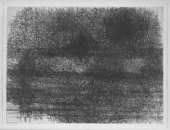 Richard Claude Ziemann (American, born 1932). <em>Landscape 224</em>, 1958. Etching on paper, 17 1/2 x 23 3/4 in. (44.5 x 60.3 cm). Brooklyn Museum, Dick S. Ramsay Fund, 58.54. © artist or artist's estate (Photo: Brooklyn Museum, 58.54_acetate_bw.jpg)