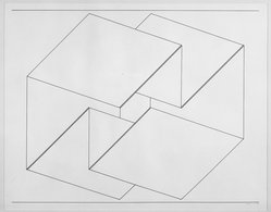 Josef Albers (American, 1888-1976). <em>Structural Constellation</em>, 1956. Pen and ink on paper, 15 7/8 x 12 1/2 in. (40.3 x 31.8 cm). Brooklyn Museum, Dick S. Ramsay Fund, 58.8. © artist or artist's estate (Photo: Brooklyn Museum, 58.8_acetate_bw.jpg)