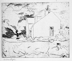 Fiske Boyd (American, 1895-1975). <em>Woodshed - Farmhouse</em>, 1926. Etching on paper Brooklyn Museum, Anonymous gift, 59.101.3. © artist or artist's estate (Photo: Brooklyn Museum, 59.101.3_bw.jpg)