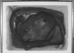 William Ronald (1926-1998). <em>Untitled</em>, 1958. Watercolor Brooklyn Museum, Charles Stewart Smith Memorial Fund, 59.95. © artist or artist's estate (Photo: Brooklyn Museum, 59.95_acetate_bw.jpg)