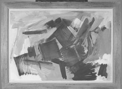 William Kienbusch (American, 1914-1979). <em>Ruins to the Ocean, Hurricane Island</em>. Watercolor on paper Brooklyn Museum, Dick S. Ramsay Fund, 59.97. © artist or artist's estate (Photo: Brooklyn Museum, 59.97_acetate_bw.jpg)