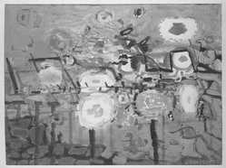 Jack Shadbolt (1909-1998). <em>Flowers on Trellis No. 3</em>. Watercolor Brooklyn Museum, Frederick Loeser Fund, 59.99. © artist or artist's estate (Photo: Brooklyn Museum, 59.99_acetate_bw.jpg)