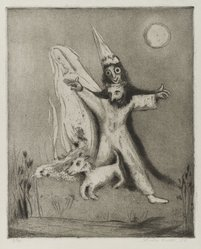 Lola Cueto (Mexican, 1897-1978). <em>Fantasia</em>, 1959. Etching, aquatint and drypoint Brooklyn Museum, Carll H. de Silver Fund, 60.128.4. © artist or artist's estate (Photo: Brooklyn Museum, 60.128.4_PS4.jpg)