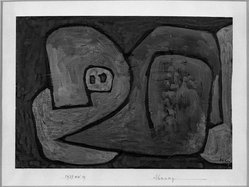 Paul Klee (Swiss, 1879-1940). <em>Premonition (Ahnung)</em>, 1939. Gouache, 8 1/8 x 11 1/2 in.  (20.6 x 29.2 cm). Brooklyn Museum, Bequest of Alexander M. Bing, 60.30. © artist or artist's estate (Photo: Brooklyn Museum, 60.30_acetate_bw.jpg)