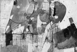 Henry Mundy (English, born 1919). <em>Composition, 1958, No.2</em>. Watercolor Brooklyn Museum, Brooklyn Museum Collection, 61.56. © artist or artist's estate (Photo: Brooklyn Museum, 61.56_acetate_bw.jpg)