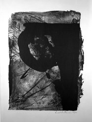 Robert Motherwell (American, 1915-1991). <em>Poet I</em>, 1961. Lithograph on paper, sheet: 30 1/8 x 22 1/2 in. (76.5 x 57.2 cm). Brooklyn Museum, Dick S. Ramsay Fund, 62.86. © artist or artist's estate (Photo: Brooklyn Museum, 62.86_acetate_bw.jpg)