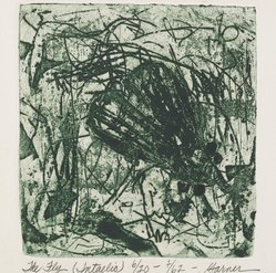 Garner Handy Tullis (American, born 1939). <em>The Fly</em>, 1962. Etching on paper, 7 1/4 x 6 3/4 in. (18.4 x 17.1 cm). Brooklyn Museum, Gift of the artist, 63.156. © artist or artist's estate (Photo: Brooklyn Museum, 63.156_PS2.jpg)