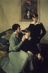 Leopold Seyffert (American, 1887-1956). <em>My Family</em>, 1928. Oil on canvas, 76 3/4 x 51 1/2in. (194.9 x 130.8cm). Brooklyn Museum, Gift of the Seyffert Family, 63.196. © artist or artist's estate (Photo: Brooklyn Museum, 63.196_transp3338.jpg)