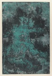 Juichi Saito. <em>Woods</em>, 1960. Etching on paper, 19 1/2 x 12 3/4 in. (49.5 x 32.4 cm). Brooklyn Museum, Carll H. de Silver Fund, 63.68.17. © artist or artist's estate (Photo: Brooklyn Museum, 63.68.17_IMLS_PS3.jpg)