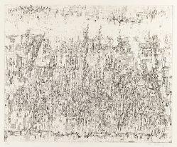 Mika Katayama. <em>Ground No. A</em>. Etching, 14 1/4 x 17 1/2 in. (36.2 x 44.5 cm). Brooklyn Museum, Carll H. de Silver Fund, 63.68.3. © artist or artist's estate (Photo: Brooklyn Museum, 63.68.3_IMLS_PS3.jpg)