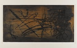 Nomura Hiroshi (Japanese). <em>Space, No. 8</em>, 1962. Etching on paper, 14 1/8 x 27 1/8 in. (35.9 x 68.9 cm). Brooklyn Museum, Carll H. de Silver Fund, 63.68.4. © artist or artist's estate (Photo: Brooklyn Museum, 63.68.4_IMLS_PS4.jpg)