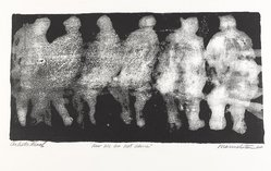 Michael Marmelstein (American, born 1927). <em>Now We Are Not Alone</em>, 1964. Lithograph on paper, sheet: 11 1/2 x 22 1/2 in. (29.2 x 57.2 cm). Brooklyn Museum, Dick S. Ramsay Fund, 64.105. © artist or artist's estate (Photo: Brooklyn Museum, 64.105_PS9.jpg)