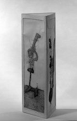 Juan Gomez-Quiroz (American, born Chile, 1939). <em>Machine to Hunt Stars</em>, 1965. Etching Brooklyn Museum, Frederick Loeser Fund, 65.163. © artist or artist's estate (Photo: Brooklyn Museum, 65.163_view1_acetate_bw.jpg)