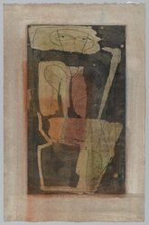 Louise Nevelson (American, born Russia, 1899-1988). <em>Figure Four Thousand</em>, 1950. Etching with aquatint on paper, sheet: 13 7/8 x 7 3/4 in. (35.2 x 19.7 cm). Brooklyn Museum, Gift of Louise Nevelson, 65.22.13. © artist or artist's estate (Photo: Brooklyn Museum, 65.22.13_PS1.jpg)
