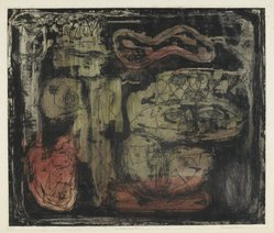 Louise Nevelson (American, born Russia, 1899-1988). <em>The Wild Jungle</em>, 1952-1954. Etching on paper, sheet: 18 1/8 x 20 3/4 in. (46 x 52.7 cm). Brooklyn Museum, Gift of Louise Nevelson, 65.22.26. © artist or artist's estate (Photo: Brooklyn Museum, 65.22.26_PS6.jpg)