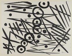 Ernst Wilhelm Nay (German, 1902-1968). <em>Composition 1954</em>, 1954. Brush, 19 1/4 × 24 3/4 in. (48.9 × 62.9 cm). Brooklyn Museum, A. Augustus Healy Fund, 65.23.4. © artist or artist's estate (Photo: Brooklyn Museum, 65.23.4_PS4.jpg)