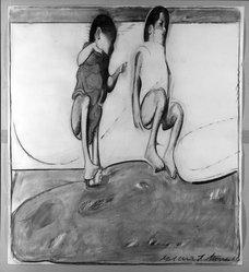 Gilbert Stone (American). <em>Vietnam I</em>, 1966. Charcoal, 58 x 52 in. (147.3 x 132.1 cm). Brooklyn Museum, Gift of Lionel Bauman, 66.196. © artist or artist's estate (Photo: Brooklyn Museum, 66.196_acetate_bw.jpg)