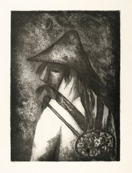 Lola Cueto (Mexican, 1897-1978). <em>Dancer of Oaxaca</em>, 1958. Etching Brooklyn Museum, Gift of Mr. and Mrs. Gustave Gilbert, 66.199.5. © artist or artist's estate (Photo: Brooklyn Museum, 66.199.5_PS2.jpg)