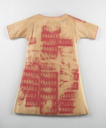 Andy Warhol (American, 1928-1987). <em>Fragile dress</em>, 1966. Paper, paint, 38 1/2in. (97.8cm). Brooklyn Museum, Gift of Abraham & Straus, 66.237.1. © artist or artist's estate (Photo: Brooklyn Museum, 66.237.1_front_CP3.jpg)