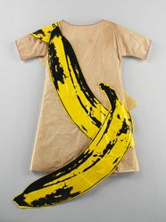 Andy Warhol (American, 1928-1987). <em>Banana dress</em>, 1966. Paper Brooklyn Museum, Gift of Abraham & Straus, 66.237.2. © artist or artist's estate (Photo: Brooklyn Museum, 66.237.2_front_CP3.jpg)