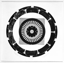 Seena Donneson (American, born 1924). <em>Mandala X</em>, ca. 1965. Intaglio in color, 17 3/4 x 17 1/2 in. (45.1 x 44.5 cm). Brooklyn Museum, Gift of the artist, 67.141. © artist or artist's estate (Photo: Brooklyn Museum, 67.141_acetate_bw.jpg)