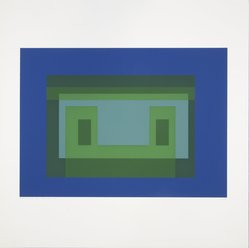 Josef Albers (American, 1888-1976). <em>Variant V</em>, 1967. Color serigraphs on white wove Rives B.F.K. paper, Sheet: 17 x 17 in. (43.2 x 43.2 cm). Brooklyn Museum, Gift of the artist, 67.184.5. © artist or artist's estate (Photo: Brooklyn Museum, 67.184.5_view1_PS12.jpg)