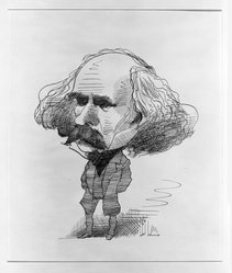 David Levine (American, 1926-2009). <em>Nathaniel Hawthorne</em>. Pen and ink on paper, 8 1/2 x 7 1/4 in. (21.6 x 18.4 cm). Brooklyn Museum, Gift of the artist, 67.187.2. © artist or artist's estate (Photo: Brooklyn Museum, 67.187.2_bw.jpg)