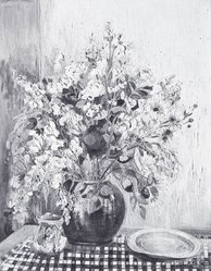 Anna Scharsu (American, 1901-1983). <em>Garden Fresh</em>, 1949. Oil on canvas Brooklyn Museum, Bequest of Laura L. Barnes, 67.24.33. © artist or artist's estate (Photo: Brooklyn Museum, 67.24.33_bw.jpg)