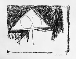 Robert Motherwell (American, 1915-1991). <em>[Untitled]</em>, 1965. Lithograph on paper, sheet: 22 1/4 x 30 1/4 in. (56.5 x 76.8 cm). Brooklyn Museum, Gift of Irwin Hollander, 67.243.9. © artist or artist's estate (Photo: Brooklyn Museum, 67.243.9_acetate_bw.jpg)
