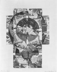 David Bostrom (American, born 1938). <em>American Cross</em>, 1966. Monotype made by frottage (rubbing), 18 1/2 x 13 1/2 in. (47 x 34.3 cm). Brooklyn Museum, Dick S. Ramsay Fund, 67.36. © artist or artist's estate (Photo: Brooklyn Museum, 67.36_acetate_bw.jpg)