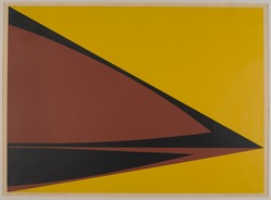 Domingo Lopez (Puerto Rican, born 1942). <em>Phases of the Time (Past)</em>, 1967. Serigraph on paper, image: 18 7/8 x 25 5/8 in. (47.9 x 65.1 cm). Brooklyn Museum, Anonymous gift, 67.90.8. © artist or artist's estate (Photo: , 67.90.8_PS9.jpg)