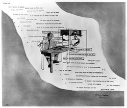 Larry Rivers (American, 1923-2002). <em>O'Hara Reading</em>, 1967. Lithograph on paper, 27 1/2 x 33 in. (69.9 x 83.8 cm). Brooklyn Museum, International Graphic Arts Society Purchase Fund, 68.123.3. © artist or artist's estate (Photo: Brooklyn Museum, 68.123.3_bw.jpg)