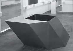 Ursula Meyer (American, 1915-2003). <em>Phoenix</em>, 1967. Stainless steel, overall: 36 x 96 x 54in. (91.4 x 243.8 x 137.2cm). Brooklyn Museum, Gift of Armco Steel Corporation and an anonymous donor, 68.22.1-.2. © artist or artist's estate (Photo: , 68.22.1_68.22.2_bw.jpg)