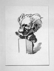 David Levine (American, 1926-2009). <em>Kenneth Burke, American Poet</em>, 1968. Ink on board, 11 x 7 1/2 in. (27.9 x 19.1 cm). Brooklyn Museum, Gift of the artist, 68.224.9. © artist or artist's estate (Photo: Brooklyn Museum, 68.224.9_bw.jpg)