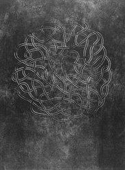 Anni Albers (American, 1899-1994). <em>Line Involvements VI</em>, 1964. Lithograph on paper, Sheet: 19 3/4 x 14 5/8 in. (50.2 x 37.1 cm). Brooklyn Museum, Dick S. Ramsay Fund, 68.226.7. © artist or artist's estate (Photo: Brooklyn Museum, 68.226.7_bw.jpg)