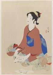 Kaburagi Kiyokata (Japanese, 1878-1972). <em>Treasure Ship</em>, circa 1960. Woodblock color print, 20 x 13 1/2 in. (50.8 x 34.3 cm). Brooklyn Museum, Carll H. de Silver Fund, 68.35.7 (Photo: Brooklyn Museum, 68.35.7_IMLS_PS3.jpg)