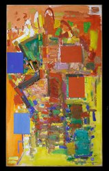 Hans Hofmann (American, 1880-1966). <em>Towering Spaciousness</em>, 1956. Oil on canvas, 84 1/4 x 50 in. (214 x 127 cm). Brooklyn Museum, Gift of William Sachs, 68.51. © artist or artist's estate (Photo: Brooklyn Museum, 68.51_recto_PS2.jpg)
