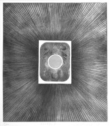 Loty Blanchard (French). <em>Sortileges 11</em>, 1967. Intaglio on paper, 17 x 14 3/4 in. (43.2 x 37.5 cm). Brooklyn Museum, Gift of the artist, 68.56.2. © artist or artist's estate (Photo: Brooklyn Museum, 68.56.2_acetate_bw.jpg)