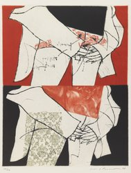 Ikeda Masuo (Japanese, 1934-1997). <em>The Meaning of Hands</em>, 1966. Drypoint and etching in color Brooklyn Museum, Henry L. Batterman Fund, 68.65.2. © artist or artist's estate (Photo: Brooklyn Museum, 68.65.2_IMLS_PS3.jpg)