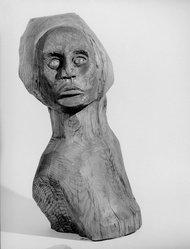 Tonnie Jones (American). <em>Fatima</em>, 1969. Oak, wax, 23 x 11 1/2 x 9 1/2 in. Brooklyn Museum, Dick S. Ramsay Fund, 69.129. © artist or artist's estate (Photo: Brooklyn Museum, 69.129_side1_bw.jpg)
