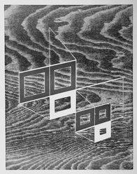 Josef Albers (American, 1888-1976). <em>W + P, State II</em>, 1968. Woodcut on wove paper, Sheet: 17 15/16 x 14 15/16 in. (45.6 x 37.9 cm). Brooklyn Museum, Gift of the artist, 69.26.2. © artist or artist's estate (Photo: Brooklyn Museum, 69.26.2_bw.jpg)
